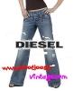 grossiste, destockage Jeans DIESEL femme Coupe large ...